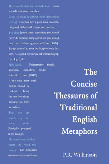 Concise Thesaurus of Traditional English Metaphors book cover