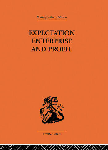 Expectation, Enterprise and Profit book cover