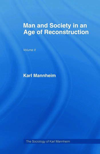 Man & Soc Age Reconstructn V 2 book cover