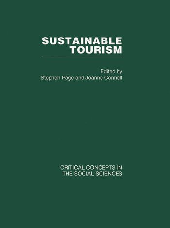 Sustainable Tourism book cover