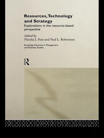 Resources, Technology and Strategy book cover