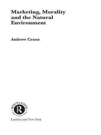 Marketing, Morality and the Natural Environment book cover