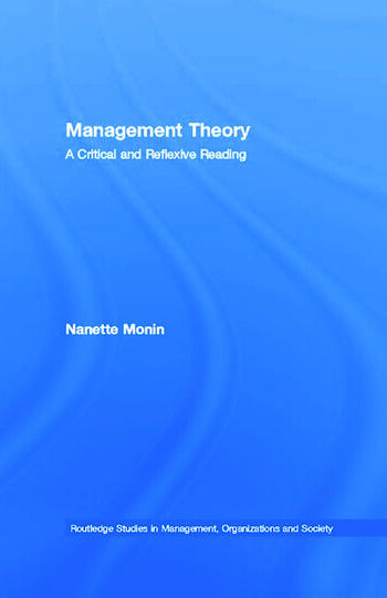 Management Theory A Critical and Reflexive Reading book cover