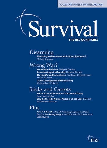 Survival 49.4 Survival 49.4, Winter 2007 book cover