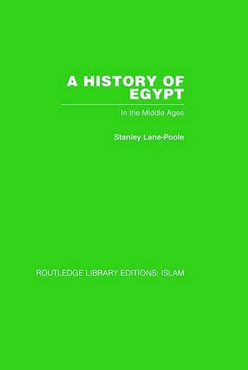 A History of Egypt In the Middle Ages book cover