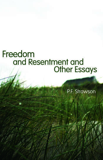 Freedom and Resentment and Other Essays book cover