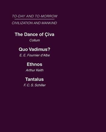 Civilization and Mankind: Mini-set A Today & Tomorrow 2 vols Today and Tomorrow book cover