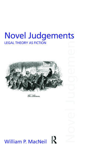 Novel Judgements Legal Theory as Fiction book cover
