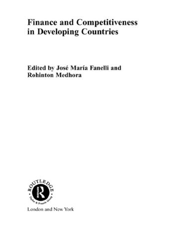 Finance and Competitiveness in Developing Countries book cover