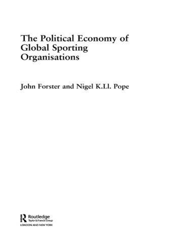 The Political Economy of Global Sporting Organisations book cover