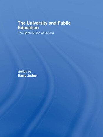 The University and Public Education The Contribution of Oxford book cover