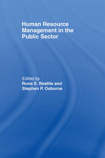 Human Resource Management in the Public Sector book cover