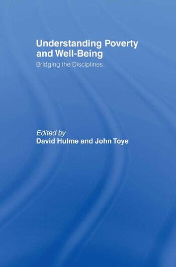 Understanding Poverty and Well-Being Bridging the Disciplines book cover