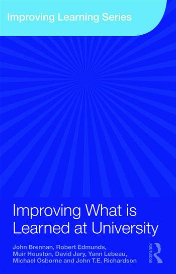 Improving What is Learned at University An Exploration of the Social and Organisational Diversity of University Education book cover