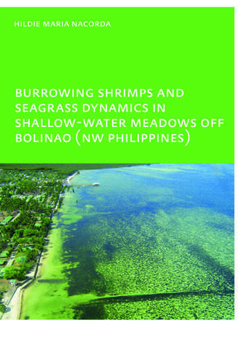Burrowing Shrimps and Seagrass Dynamics in Shallow-Water Meadows off Bolinao (New Philippines) UNESCO-IHE PhD book cover