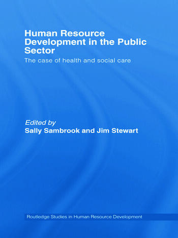 Human Resource Development in the Public Sector The Case of Health and Social Care book cover