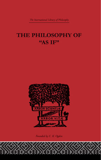 The Philosophy of As if book cover