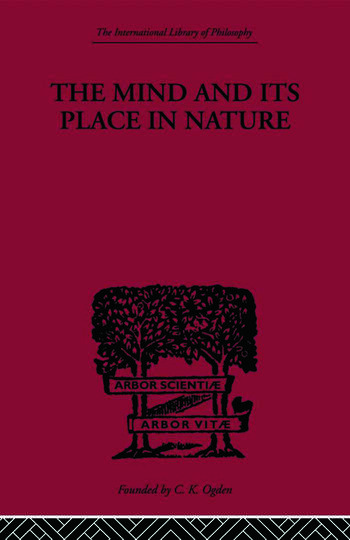 The Mind and its Place in Nature book cover