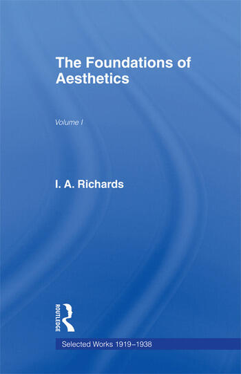 Foundations of Aesthetics Vol 1 book cover