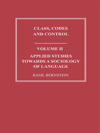 Applied Studies Towards a Sociology of Language book cover
