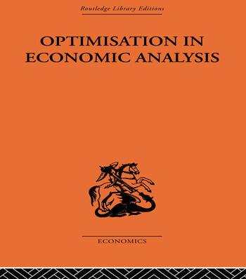 Optimisation in Economic Analysis book cover