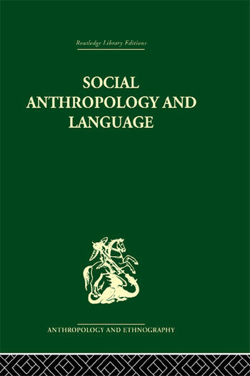 Social Anthropology and Language book cover