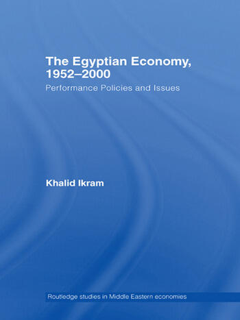The Egyptian Economy, 1952-2000 Performance Policies and Issues book cover