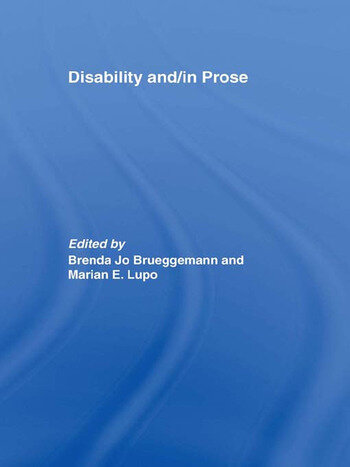 Disability and/in Prose book cover