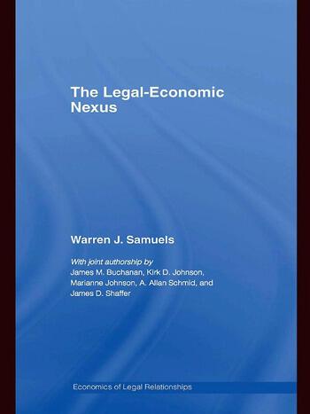 The Legal-Economic Nexus Fundamental Processes book cover