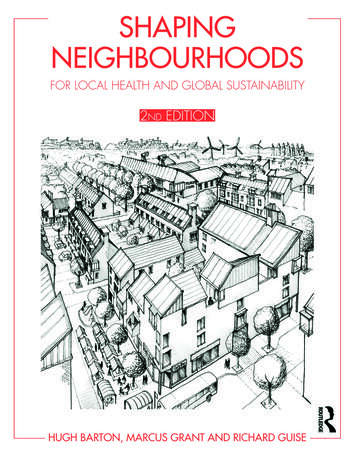 Shaping Neighbourhoods For Local Health and Global Sustainability book cover