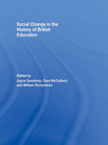 Social Change in the History of British Education book cover