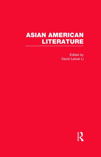 Asian American Literature book cover