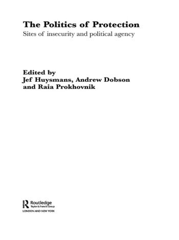 The Politics of Protection Sites of Insecurity and Political Agency book cover