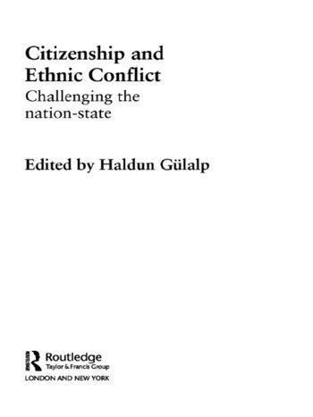 Citizenship and Ethnic Conflict Challenging the Nation-State book cover