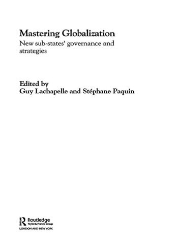 Mastering Globalization New Sub-States' Governance and Strategies book cover