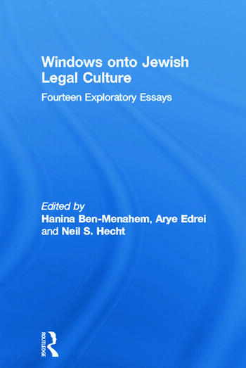 Windows onto Jewish Legal Culture Fourteen Exploratory Essays book cover