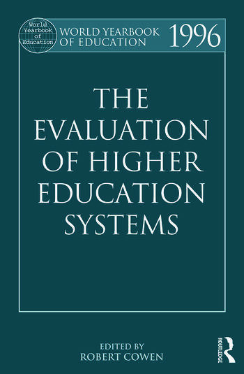 The World Yearbook of Education 1996 The Evaluation of Higher Education Systems book cover
