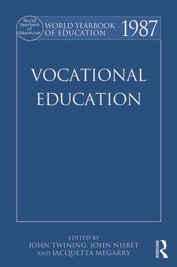 World Yearbook of Education 1987 Vocational Education book cover