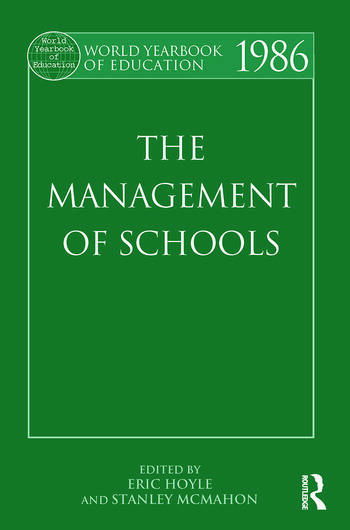 World Yearbook of Education 1986 The Management of Schools book cover
