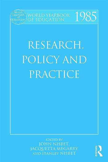 World Yearbook of Education 1985 Research, Policy and Practice book cover