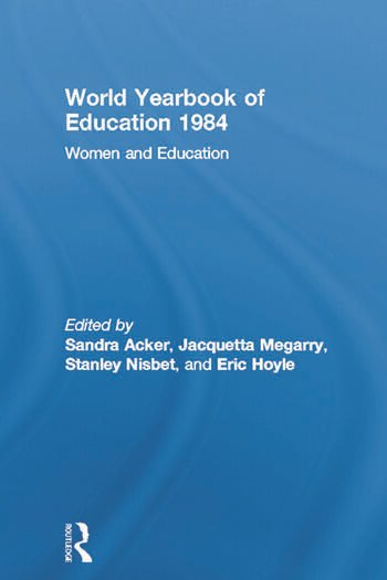 World Yearbook of Education 1984 Women and Education book cover