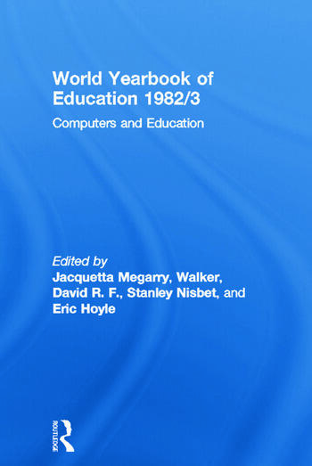 World Yearbook of Education 1982/3 Computers and Education book cover