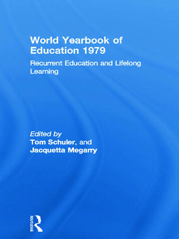 World Yearbook of Education 1979 Recurrent Education and Lifelong Learning book cover