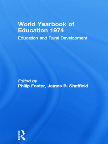 World Yearbook of Education 1974 Education and Rural Development book cover