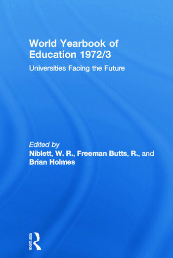 World Yearbook of Education 1972/3 Universities Facing the Future book cover