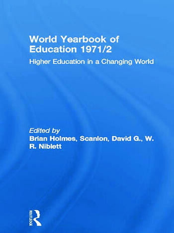 World Yearbook of Education 1971/2 Higher Education in a Changing World book cover