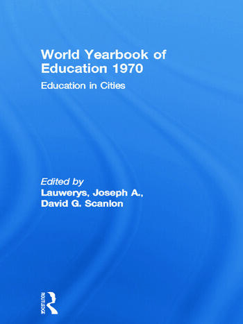 World Yearbook of Education 1970 Education in Cities book cover