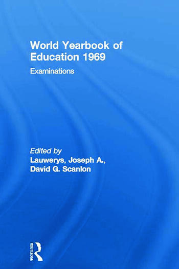 World Yearbook of Education 1969 Examinations book cover