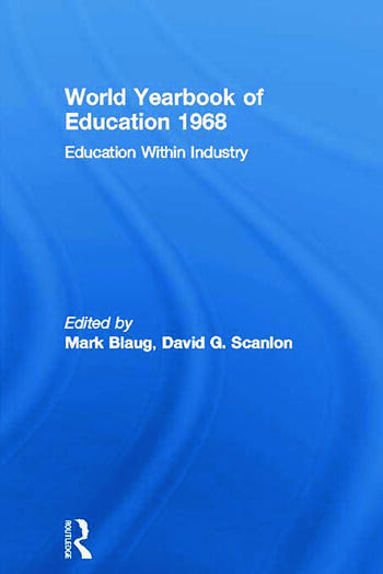 World Yearbook of Education 1968 Education Within Industry book cover