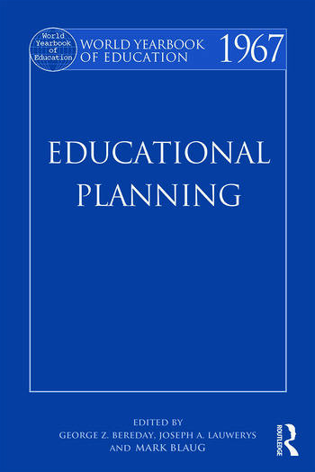 World Yearbook of Education 1967 Educational Planning book cover